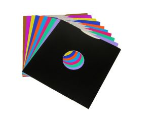"12"" Coloured Card LP Sleeves - Pack of 10 - Mixed Colours"